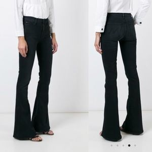 MOTHER the castaway flared black jeans
